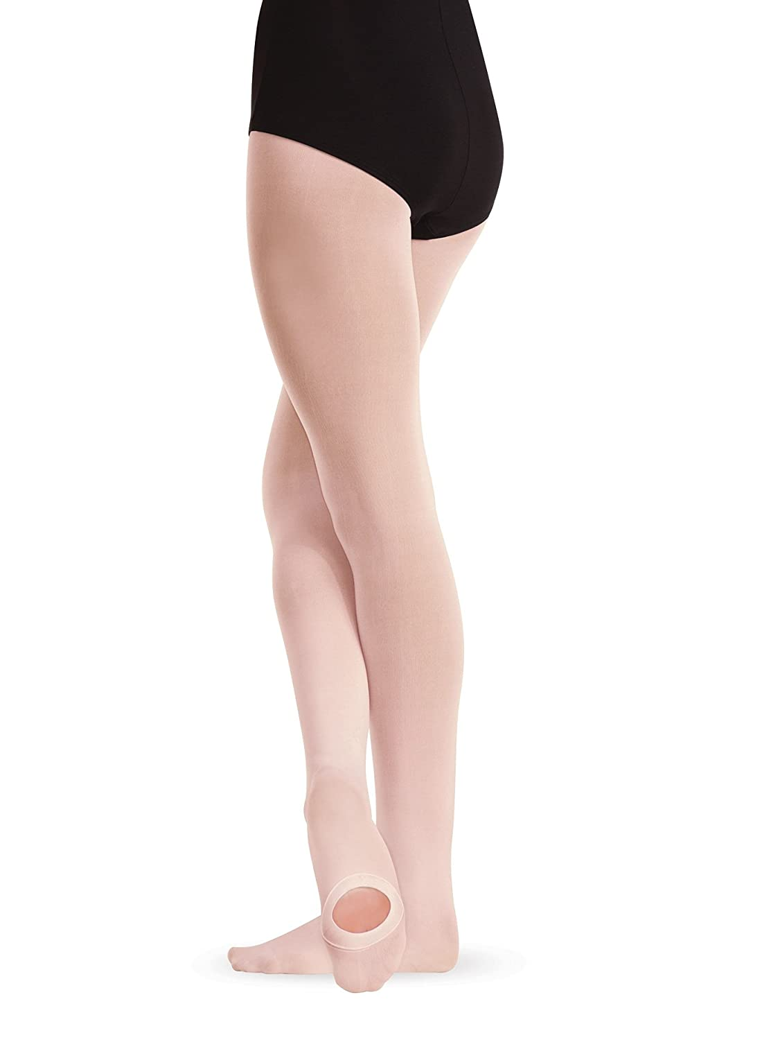 Girls Body Wrappers Convertible Dance Tights C81