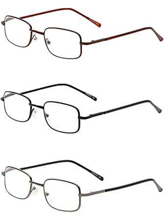 VEVESMUNDO® Lesebrillen Herren Damen Klassische Scharnier Brille Lesehilfe Augenoptik Vollrandbrille 1.0 1.5 2.0 2.5 3.0 3.5 4.0 (Grau, 1.0)