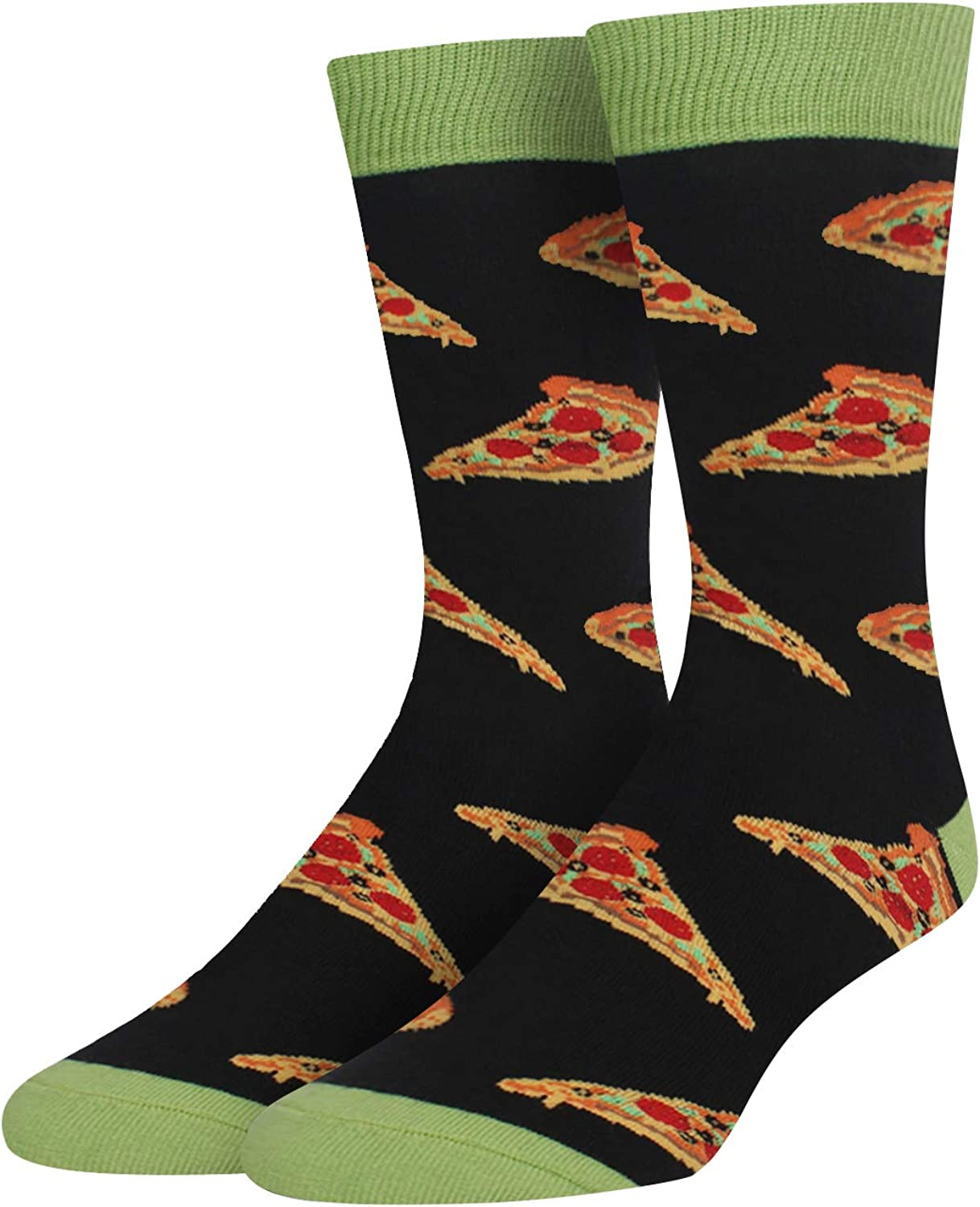 HAPPYPOP Men's Funny Taco Pickle Dill Donut Socks Crazy Food Socks for Food Lover