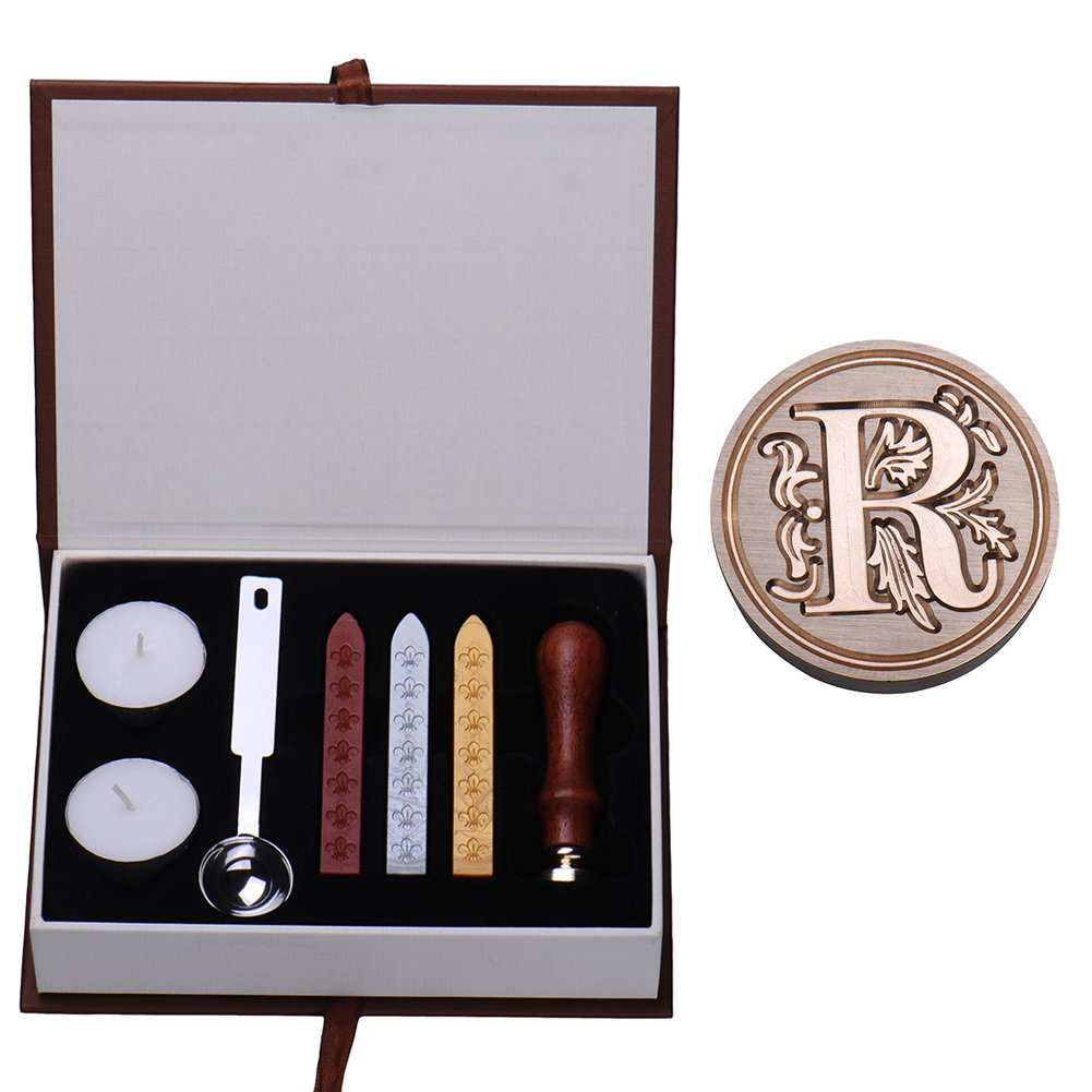 Alphabet Initial Stamp Seal Sealing Wax Vintage Classical Antique Letters Set Creative Stamp Seal Maker Kit