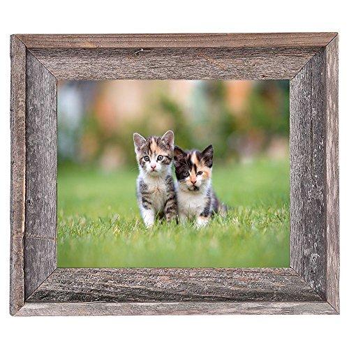 BarnwoodUSA Rustic 11x14 Inch Signature Photo Frame - 100% Reclaimed Wood, Weathered Gray by BarnwoodUSA (Image #4)