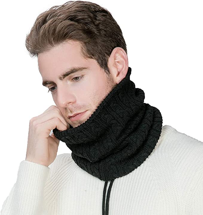 Unisex Ski Winter Knitted Collar Thermal Outdoor Cycling Artificial Wool