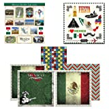 Scrapbook Customs Themed Paper and Stickers Scrapbook Kit, Mexico Sightseeing