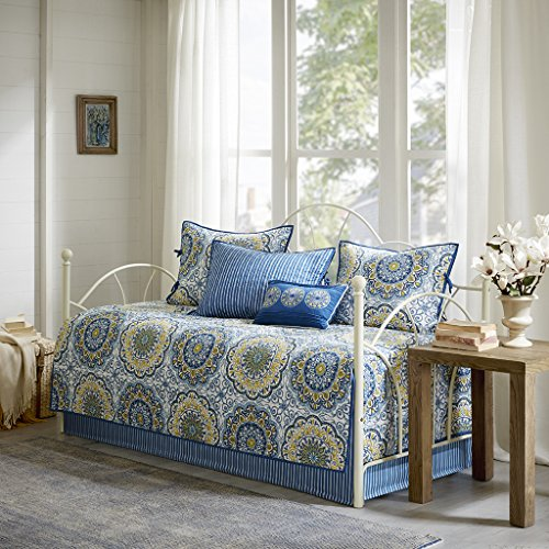 Tangiers 6 Piece Daybed Set Blue Daybed (Daybed Pillow Sets)