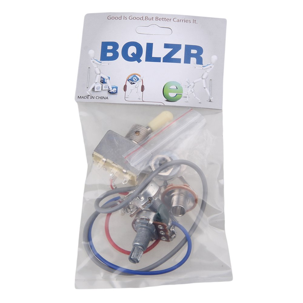 Bqlzr Guitar Wiring Harness 3way Toggle Switch 1v1t 500k Diagram For Dean Ml 2 Tones 1 Volume Electric Humbucker Musical Instruments