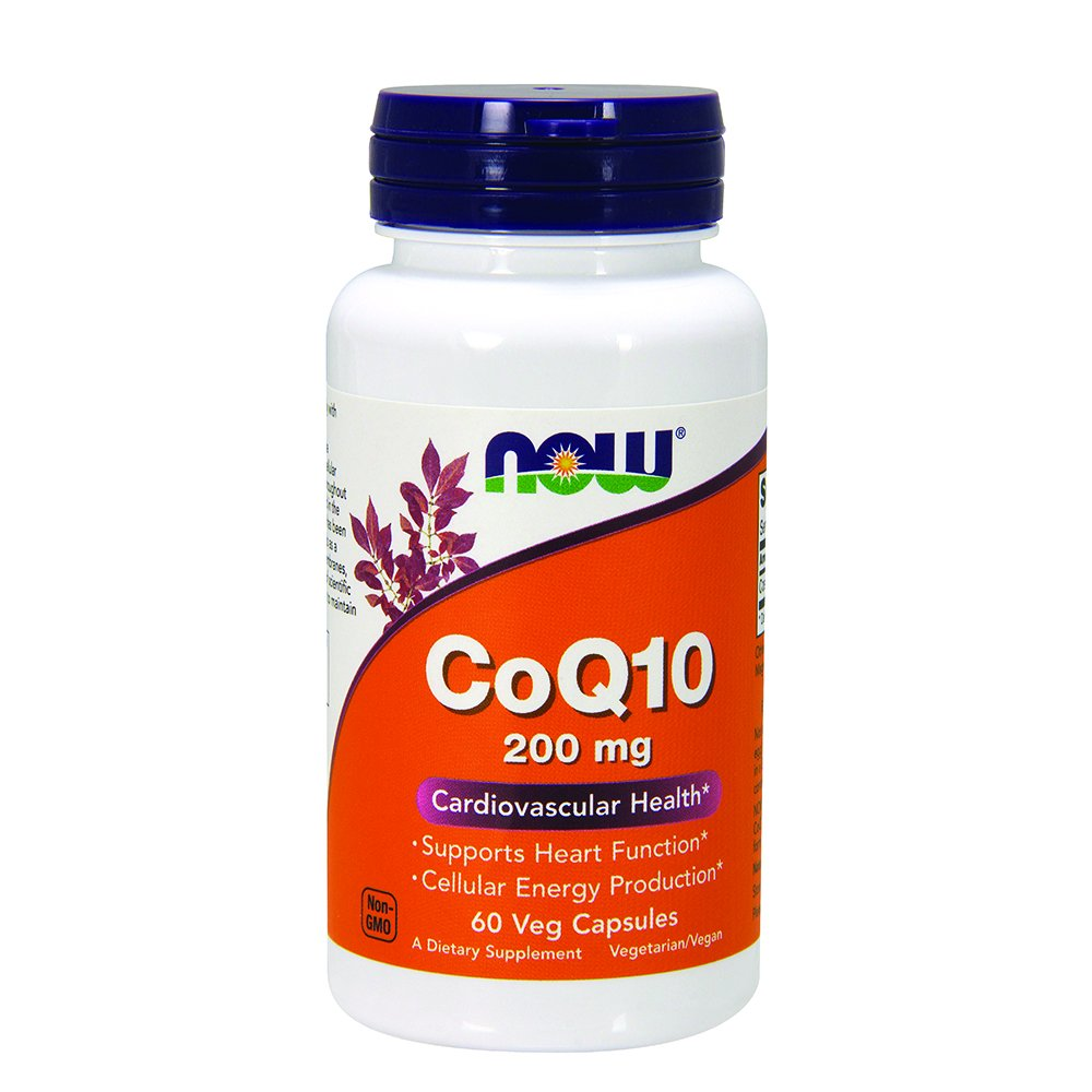 NOW CoQ10 200 mg,60 Veg Capsules