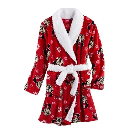 Amazon.com  Dis Disneys Minnie Mouse Snuggle Robe - Girls 4-8 (6 ... 033f31ffd