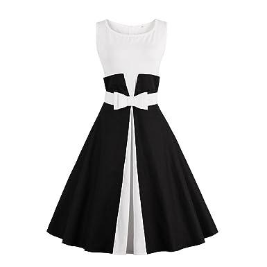 WINNER NEW Vestidos Fake two Pieces Summer Bow Swing Rockabilly Sleeveless Patchwork Vintage Dress 4XL plus