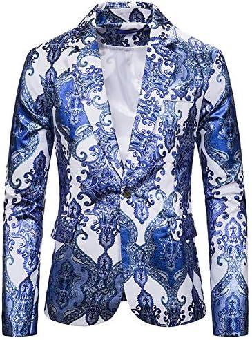 [MANMASTER(マンマスター)] テーラードジャケット スーツジャケット 総柄 一つボタン ステージ衣装 メンズCXH246