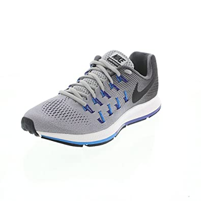 Nike Men's Air Zoom Pegasus 33 Grey Running Shoes - 10 UK