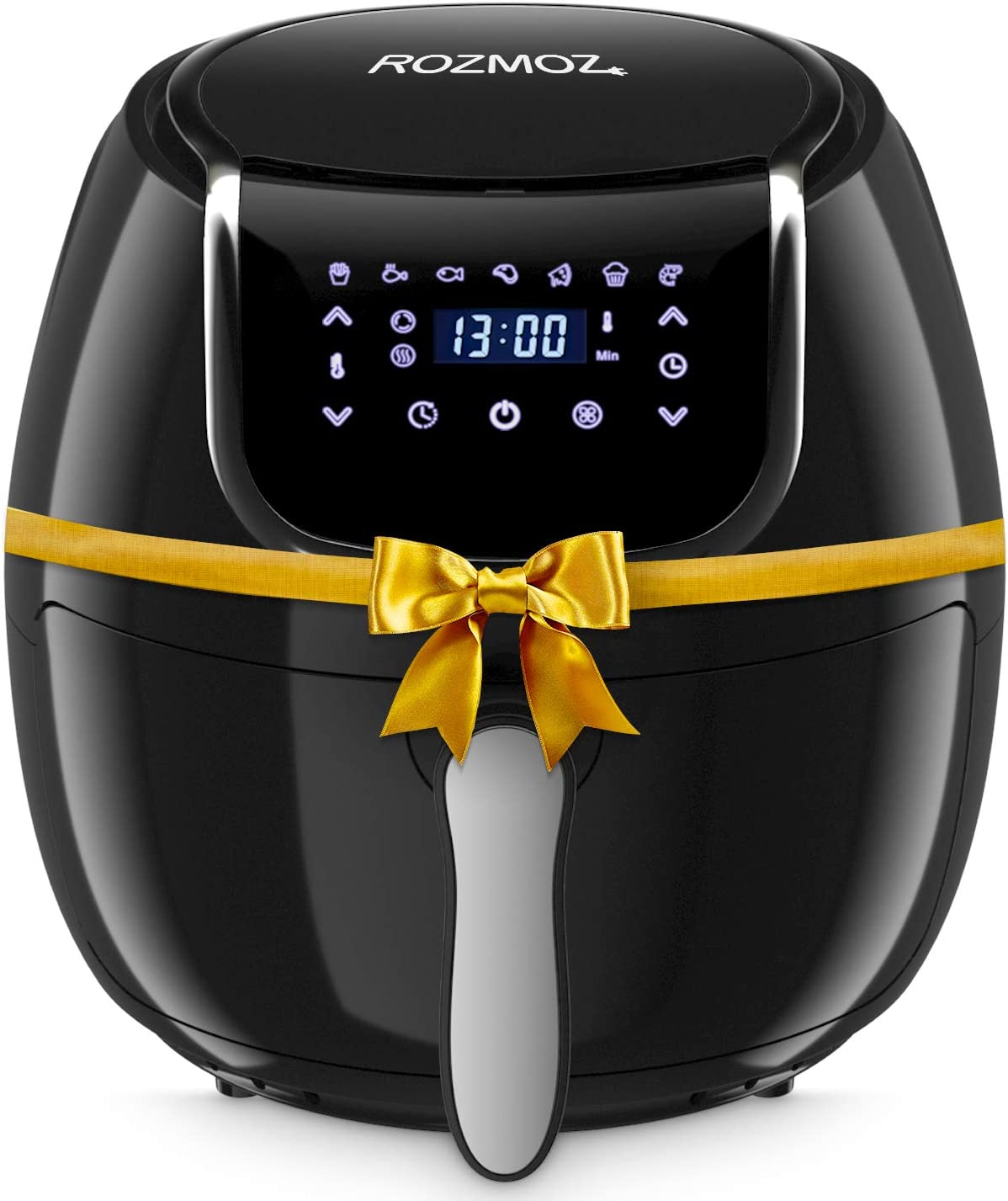 ROZMOZ Air Fryer, 7-in-1 Electric Air Fryers Oven with Automatic Shutoff & Overheat Protection, 1400W Oil-less Air Fryers,Nonstick Basket, LED Touchscreen, 4.2QT, Black