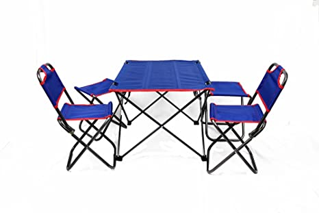 Outdoor Folding Table Chairs Set Kitchen Dining