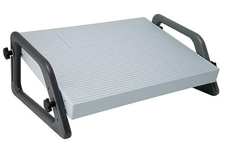 Poggiapiedi Ufficio Fai Da Te : Wedo poggiapiedi relax regolabile grigio amazon