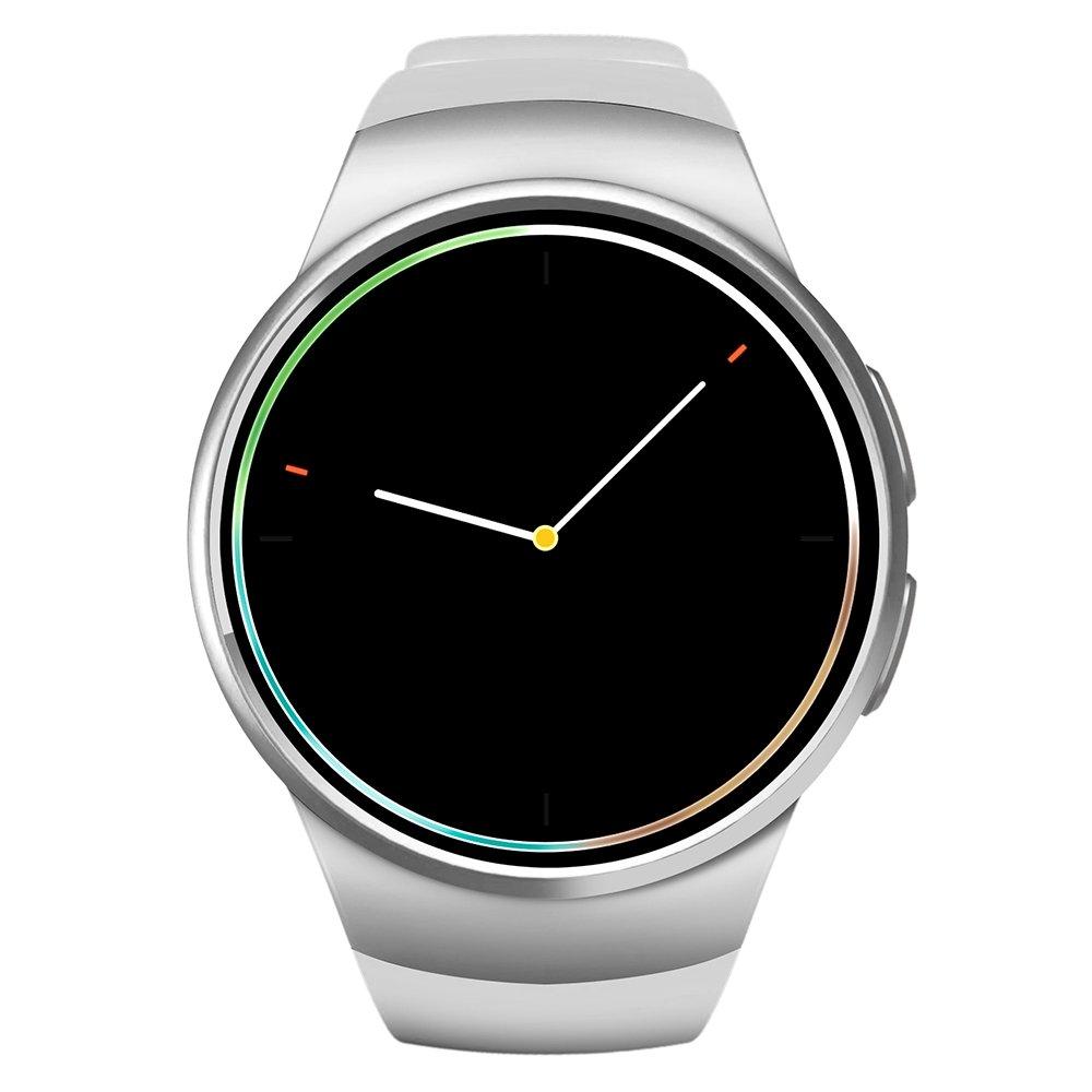 Amazon.com: KingWear KW18 1.3 inch Round Dial Smartwatch ...