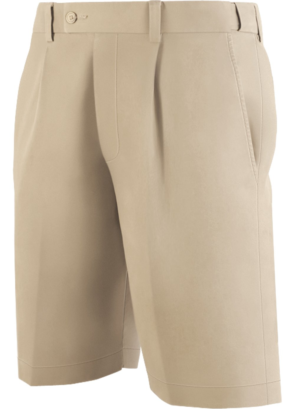Havana Smooth's Luxury, Breathable Golf Shorts for Men, Tan 32. Stretch Waist.