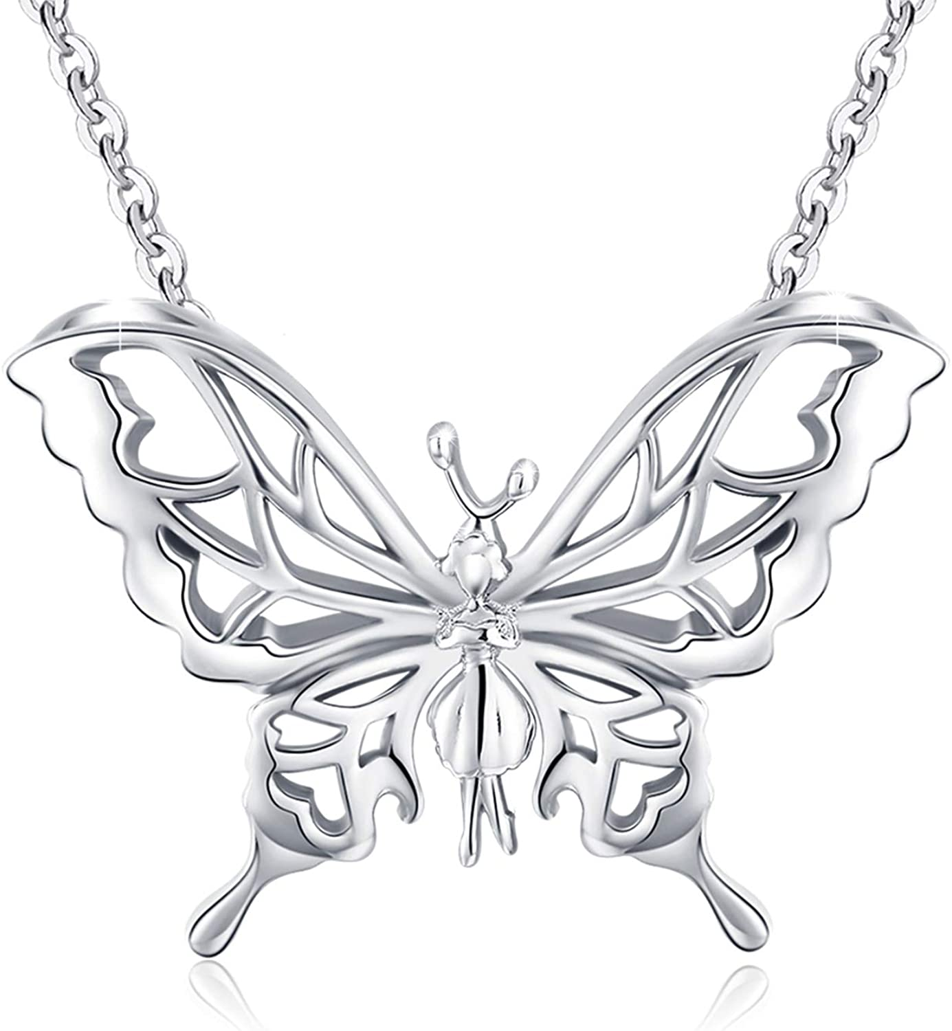 Beautiful Sterling silver 925 sterling Metal Fash Butterfly//Dragonfly