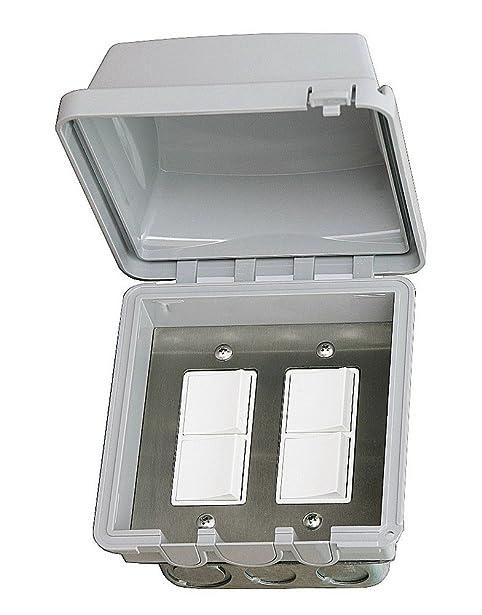 Infratech 14 4315 Accessory   Dual Duplex Switch Flush Mount U0026 Gang Box 20  Amp Per