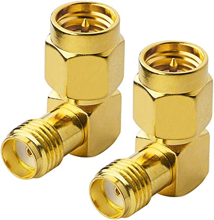 2x F Push On Male plug to Female Jack Connect Straight Adapter Coax for ATSC TV
