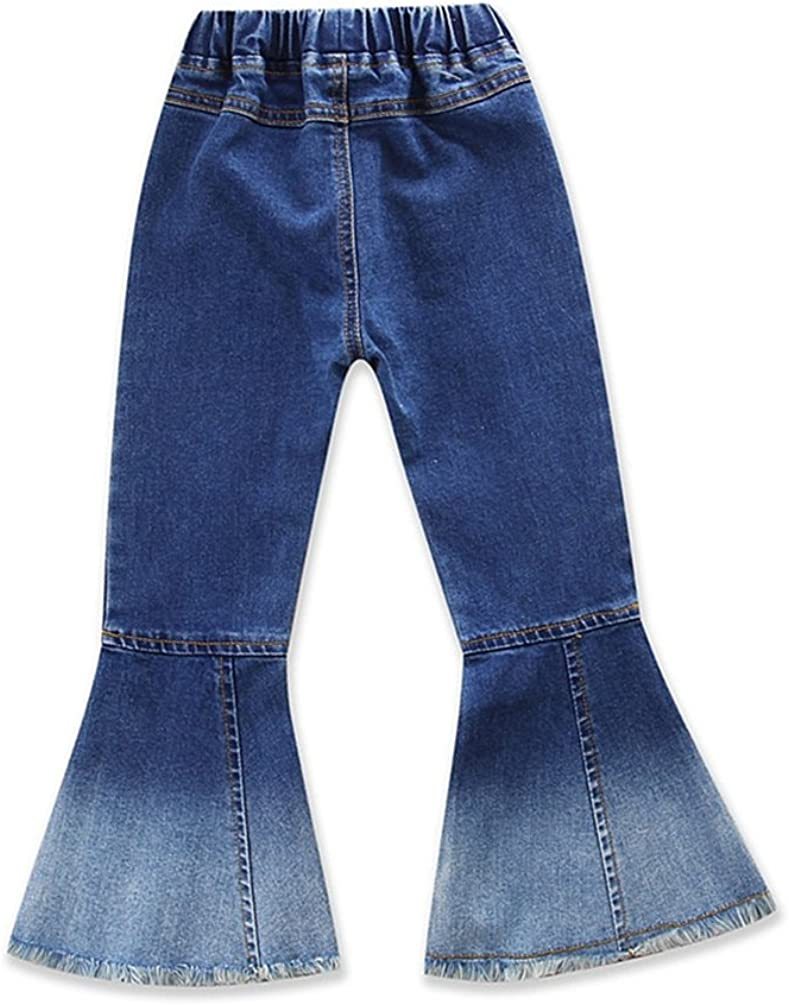 Dexinx Bambina Elegante Attraente Jeans Casual Pantaloni Flare Pop