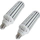 E26口金 45W トウモロコシ型 LEDコーンライト 400W相当 水銀灯 led 代替 屋内外兼用 超高輝度 2個セット 昼光色 (AC85-265V)