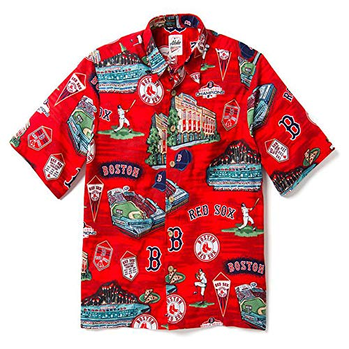 - Reyn Spooner Men's Boston Red Sox MLB Classic Fit Hawaiian Shirt, Scenic 2019, XX-Large