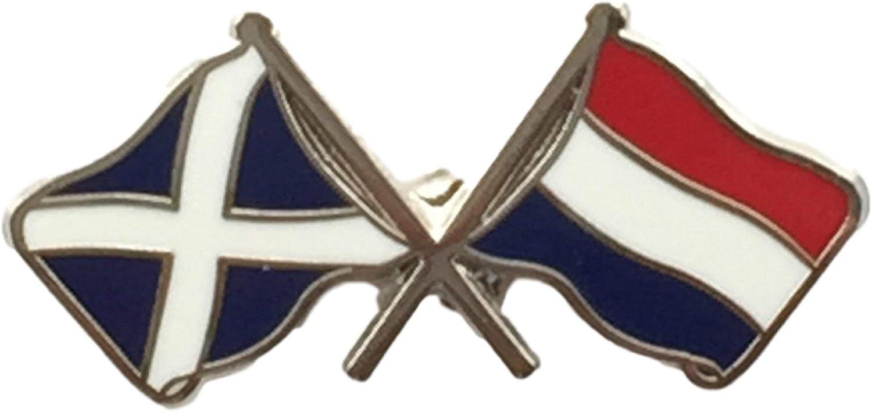 England /& Holland Flags Friendship Courtesy Enamel Lapel Pin Badge