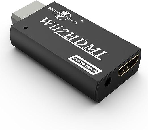 Goronya, adaptador convertidor Wii a HDMI Wii2HDMI 1080p 720p Escalador de apoyo para Smart TV HDTV con Full HD: Amazon.es: Videojuegos