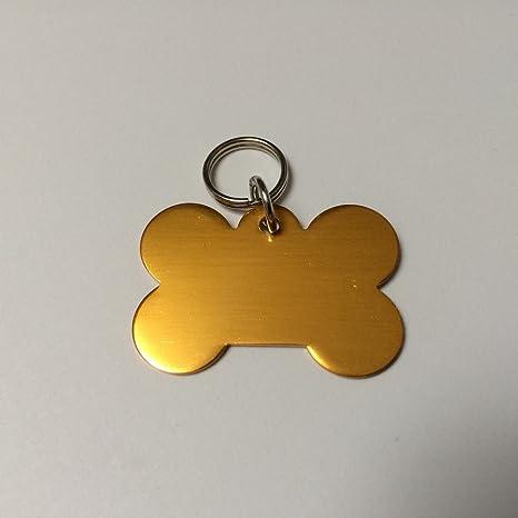 Diseño de perros - y gatos minirremolque con láser de grabado, dorado, Knochen