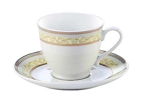 Hitkari Potteries Sunray Porcelain Dinnerware Set, 12-Pieces, White