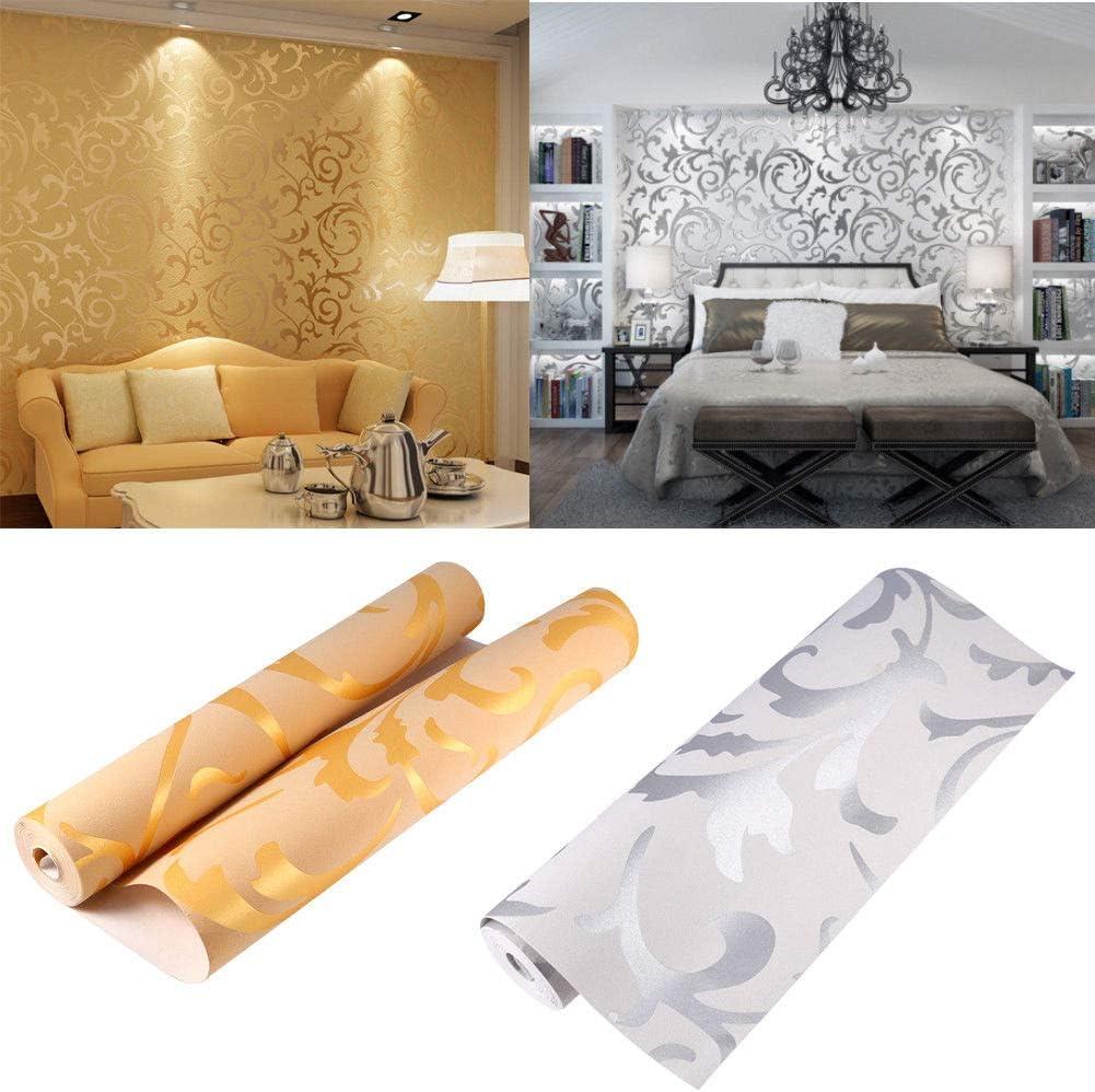 Papel pintado 3D de lujo, diseño victoriano en relieve, rollo de papel de pared para decoración de habitación de TV, rollo de papel de pared