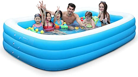 Swimming pool YUHAO(es) Piscina Inflable - Familia Y Niños Inflable Piscina Rectangular: Amazon.es: Deportes y aire libre