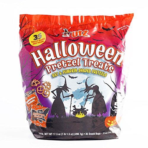 Utz Halloween Pretzel Bag 35-Count (1 Item Per Order, not a case) (Pumpkin Cheese Ball Halloween)