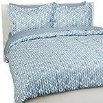 AmazonBasics-7-Piece-Bed-In-A-Bag-Full-Queen-Bedding-Comforter-Sheet-Set-Grey-Leaf-Microfiber-Ultra-Soft