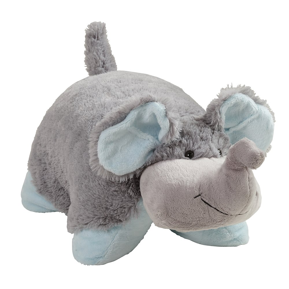 Pillow Pets My My Nutty Elephant - Large, Grey,; 18'' Stuffed Animal Plush Toy