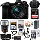 Panasonic Lumix DC-G9 4K Wi-Fi Digital Camera & 12-60mm f/2.8-4.0 Lens with 128GB Card + Battery + Case + Flash + Tripod + Filters Kit