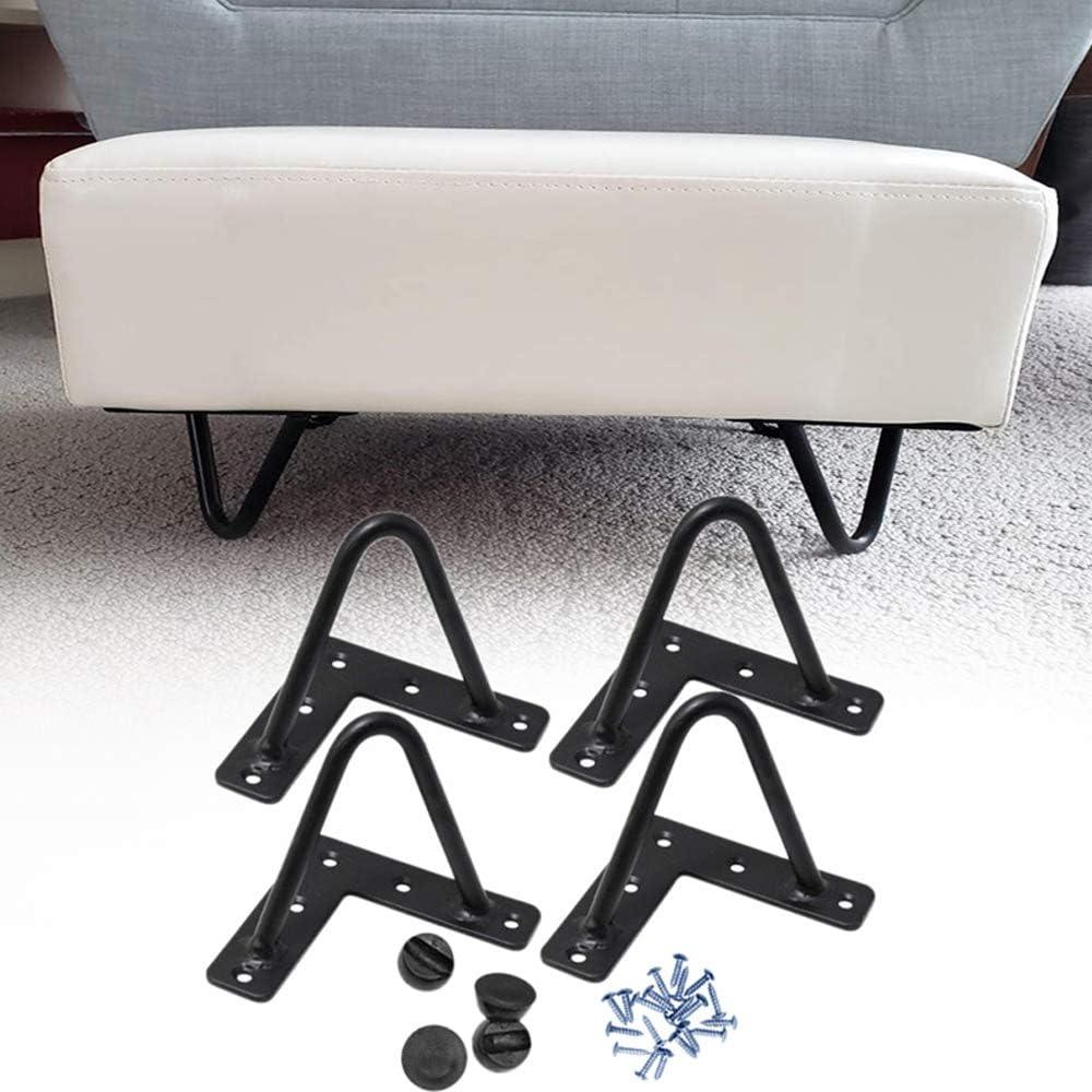 Signstek Patas de escritorio de mesa de 4 piezas, patas de muebles de hierro negro para muebles de artesanías de bricolaje Con Tornillos y Bases ...