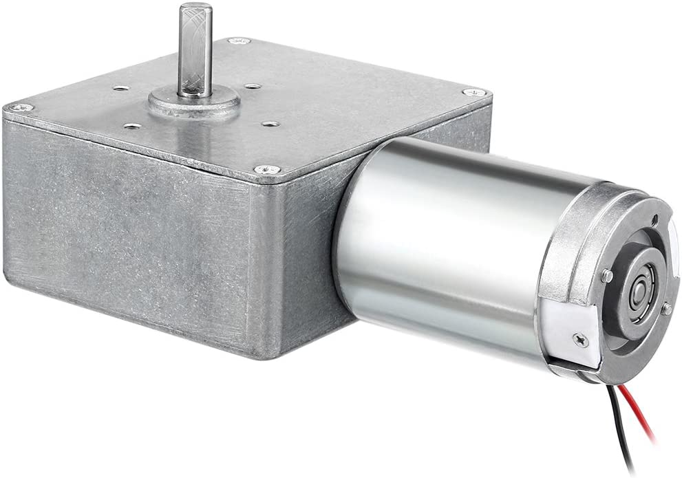 uxcell DC12V 2A 30RPM 8mm Shaft High Torque Reversible Turbine Worm GearMotor Reduction a18010500ux0235