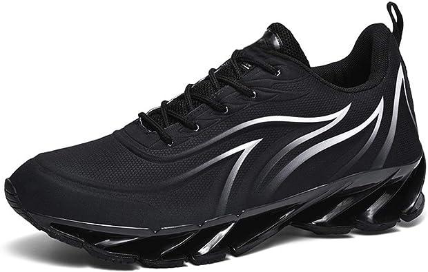 Zapatillas Negras para Hombres, Grandes Cojines Casuales para ...