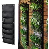 Meiwo 7 Pocket Hanging Vertical Garden Wall Planter For Yard Garden Home Decoration