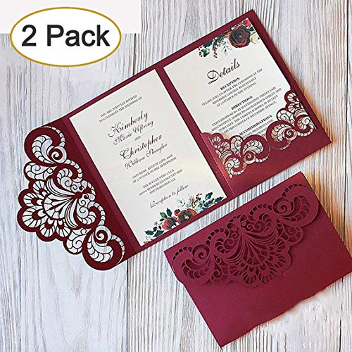 2pcs Metal Die Cuts Set,Wedding Invitation Lace Flower Border Cutting Dies Cut Template Stencils for DIY Scrapbooking Photo Album Decorative Embossing Paper Card Making Mould