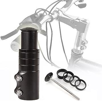 DE Schwarz Silber Fahrrad Lenkererhöhung Vorbauverlängerung Vorbauerhöhung 120mm