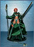 Emerald Medieval Witchblade Action Figure Exclusive Variant - Added Green Cloth Cape plus Metallic Emerald Clothes - 1998 Witchbalde Series by Top Cow Productions