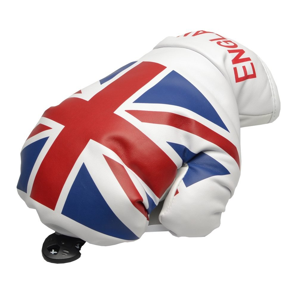 GOOACTION Golf Putter Club Headcovers Covers UK US Flag Boxing Glove 1pc PU Synthetic Leather Pattern Cover Thick Creative with Easy Lock in Adjustable Notation Design Fit for All Brands