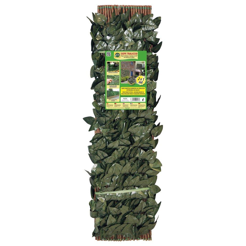 Dmail - Rete estensibile con finta siepe 1 x 2 m