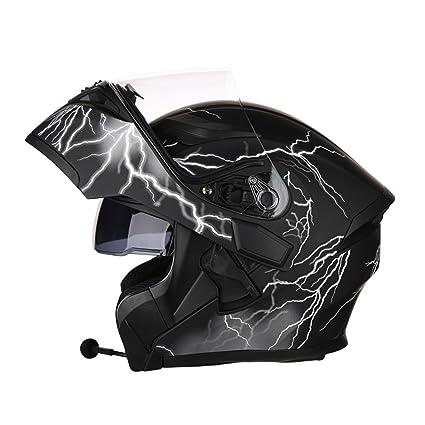 DFUCF Casco De La Motocicleta Casco De Seguridad Masculina Y Femenina Auricular Bluetooth Casco De Invierno