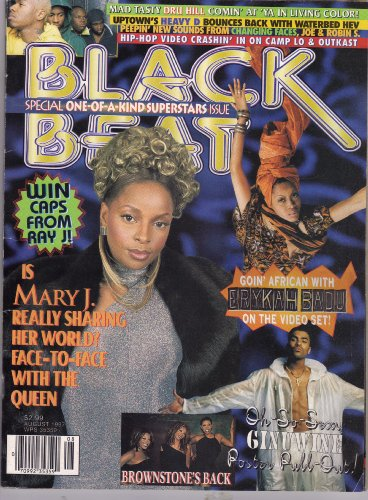 Black Beat Magazine August 1997 (3-166, Oh-So-Sexy GINUWINE poster pull-out! Is Mary J. really sharing her world? Face-To-Face with the Queen!)