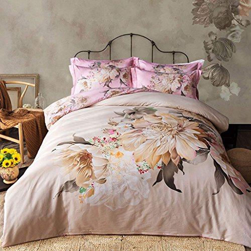 Classico Bed Linen - CWJ Cotton Bed Four Piece Sets of 1.5 1.8M Bed Quilt Cover Bed Sheet Linen Classic Aristocratic Home Preferred,Classic-A