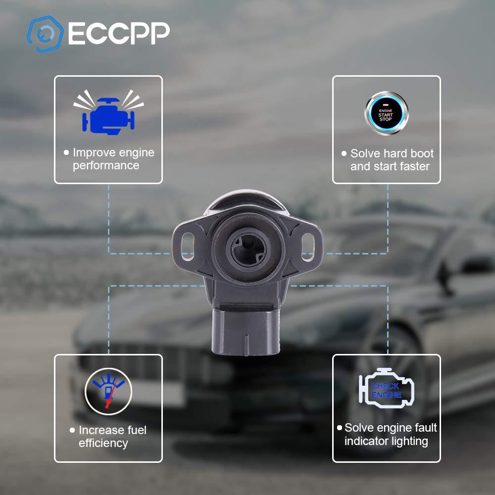 ECCPP Throttle Position Sensor TPS Fit for Polaris Ranger 500 570 800//Polaris Ranger Crew 500//Polaris RZR 570 800//Polaris Sportsman 500 550 570//Polaris Sportsman ACE 570 Automotive Replacement Sensor