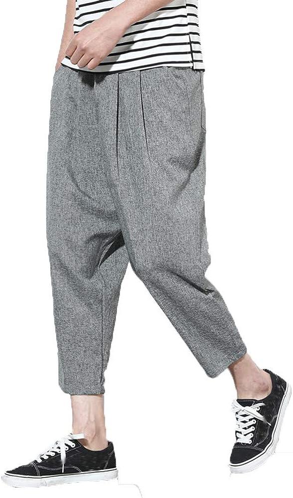 Ms lily Mens Cotton Knit Jogger Lounge Pants
