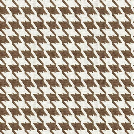 Sand Brown Houndstooth Woven Jacquards Upholstery Fabric by the yard